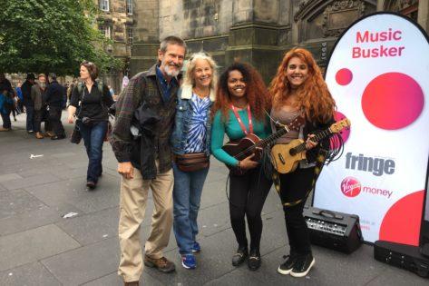 Jeff & Barbara with The Little Things in Edinburgh, Scotland!
